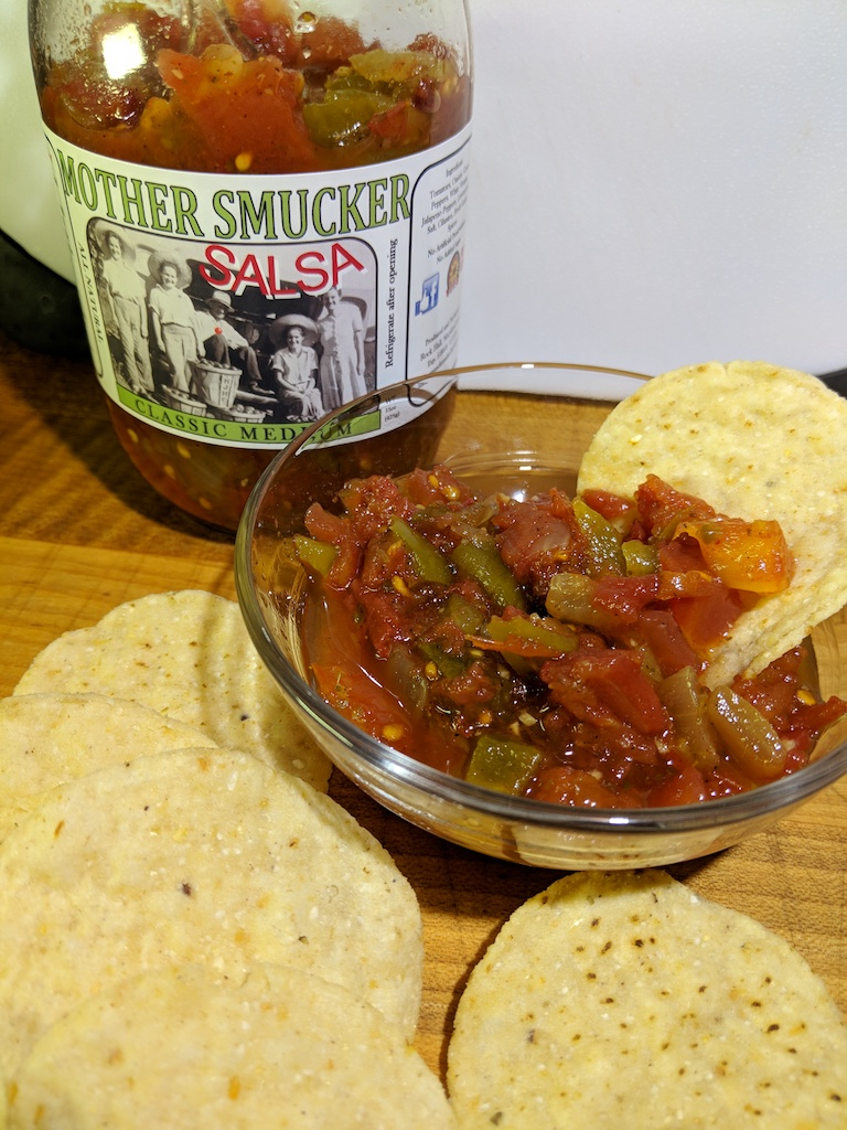 mother smucker salsa sample
