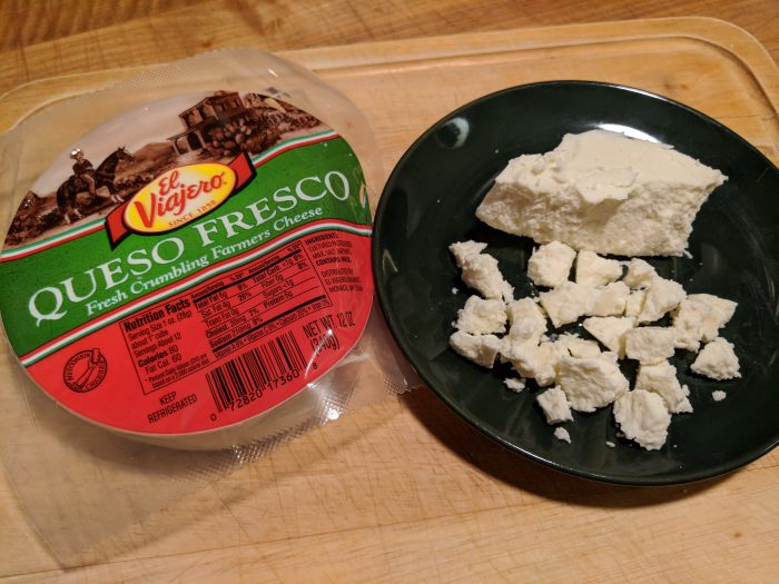 queso seco crumbling cheese